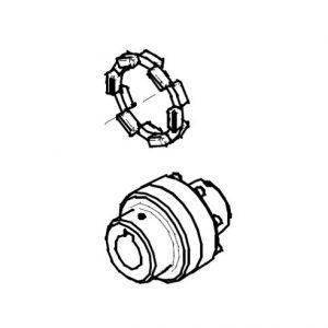 126.00007 Муфта винтового компрессора KRAFTMANN